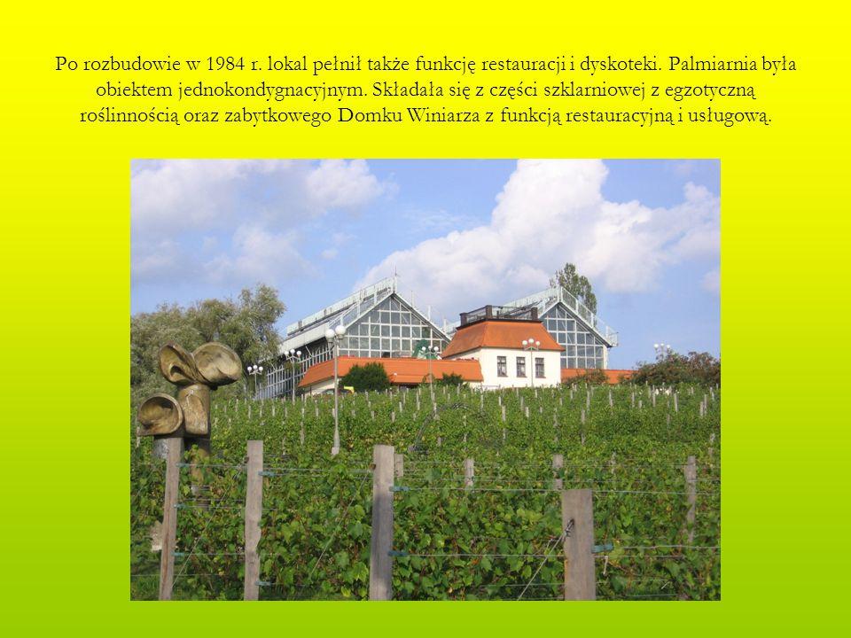 W 2004 r.zapadła decyzja o kolejnej przebudowie Palmiarni.