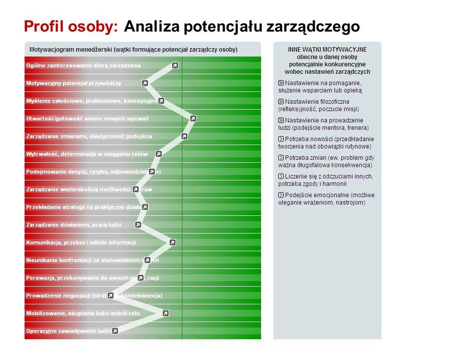 Profil osoby: Analiza potencjału zarządczego