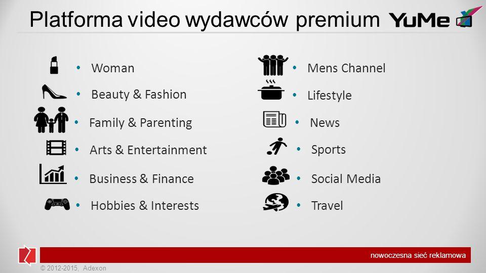 © 2012-2015, Adexon nowoczesna sieć reklamowa Profil użytkowników - wiek OdwiedzającyZarejestrowani Affinity Index dla grupy wiek 14-17 249,14 Źródło: Megapanel PBI, październik 2014