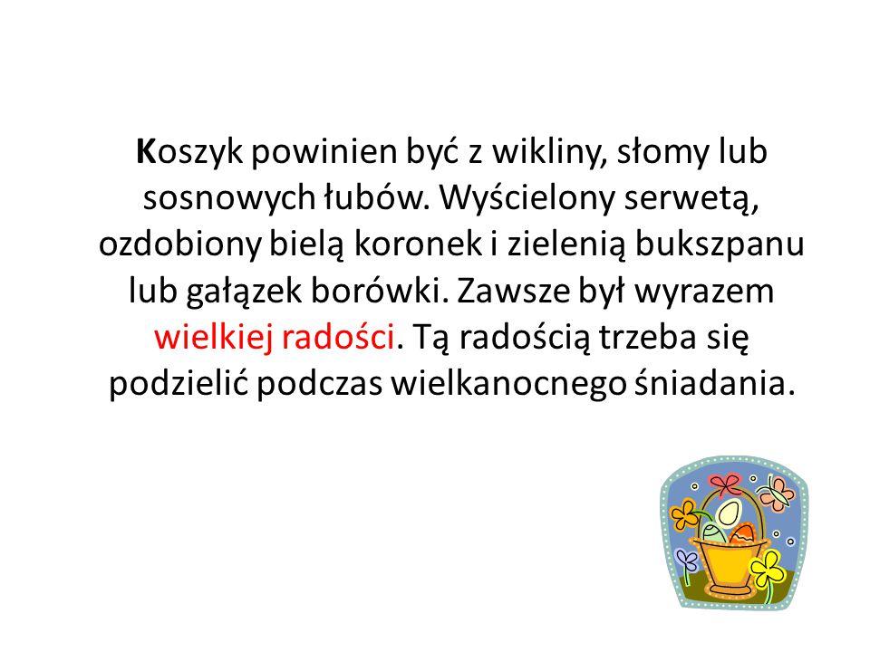 Zwyczaj święcenia pokarmów przywędrował do Polski z zachodu Europy ok. XII wieku. Początkowo pokarmy święcono w domach. Należało poświęcić wszystko, c
