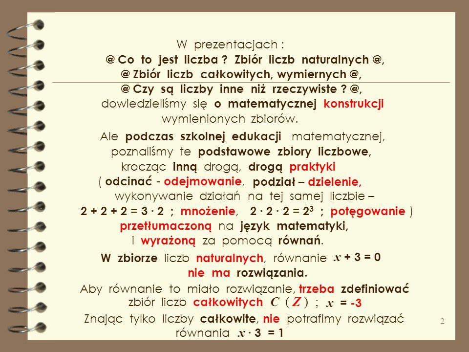 hiperzespolone : Dziwne, nieznane liczby kwaterniony,kokwaterniony,tessariny, oktoniony,bikwaterniony,Sedeniony. nadrzeczywiste, hiprrzeczywiste, zesp