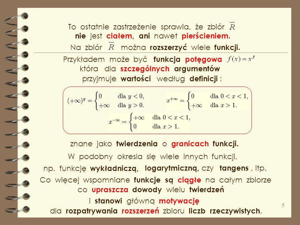 """lub afinicznym liczb rzeczywistych ( prostej rzeczywistej ) Aby wykonać działania na ciągach zbieżnych, dwa """" elementy nieskończone """" : do zbioru licz"""