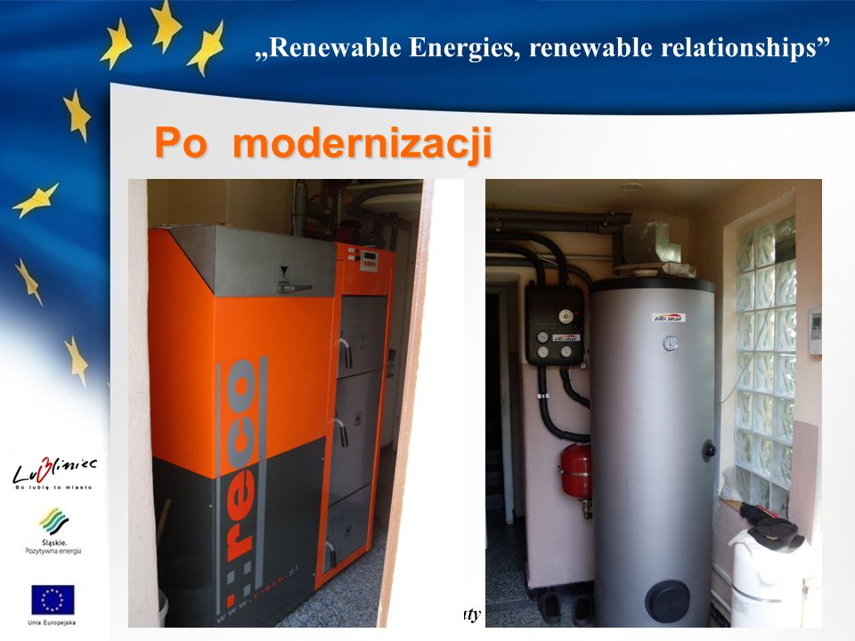 """Renewable Energies, renewable relationships Lubliniec, 27 luty – 1 marca 2014 r. Po modernizacji"