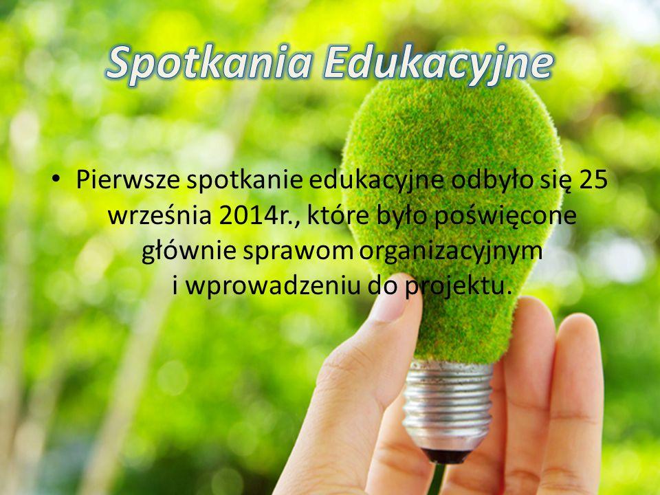Pierwsze spotkanie edukacyjne odbyło się 25 września 2014r., które było poświęcone głównie sprawom organizacyjnym i wprowadzeniu do projektu.