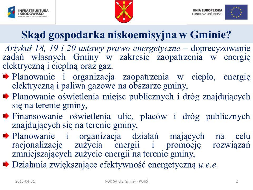 Skąd gospodarka niskoemisyjna w Gminie? Artykuł 18, 19 i 20 ustawy prawo energetyczne – doprecyzowanie zadań własnych Gminy w zakresie zaopatrzenia w