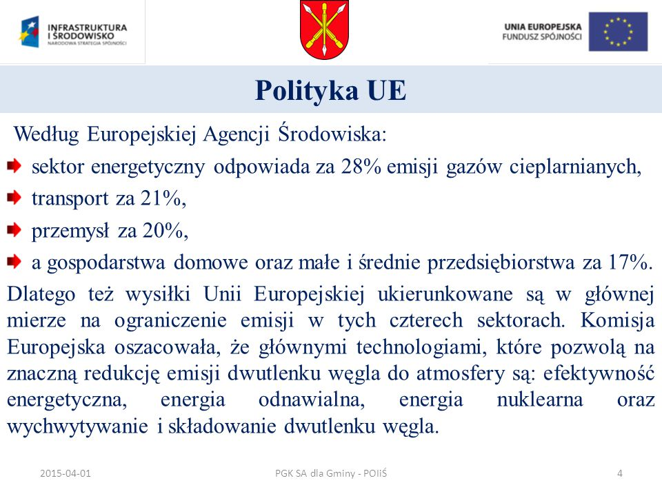 Sprawność całkowita kogeneracji (gospodarka skojarzona) PGK SA dla Gminy - POIiŚ2015-04-0135
