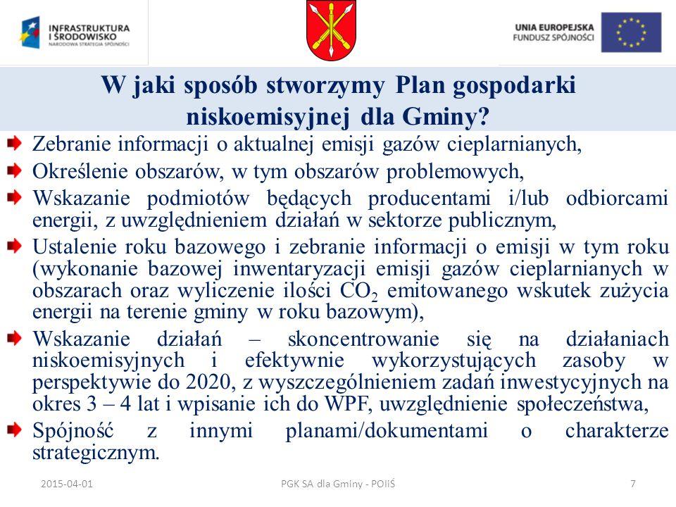 PGK SA dla Gminy - POIiŚ Dziękuję za uwagę Romuald Meyer www.pgksa.pl meyer@pgksa.pl, pgn@pgksa.pl 793340801 www.pgksa.pl meyer@pgksa.plpgn@pgksa.pl 2015-04-0138