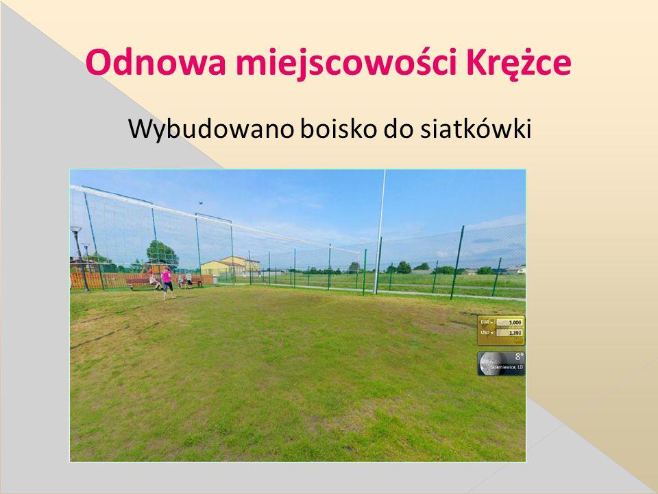Odnowa miejscowości Krężce Wybudowano boisko do siatkówki