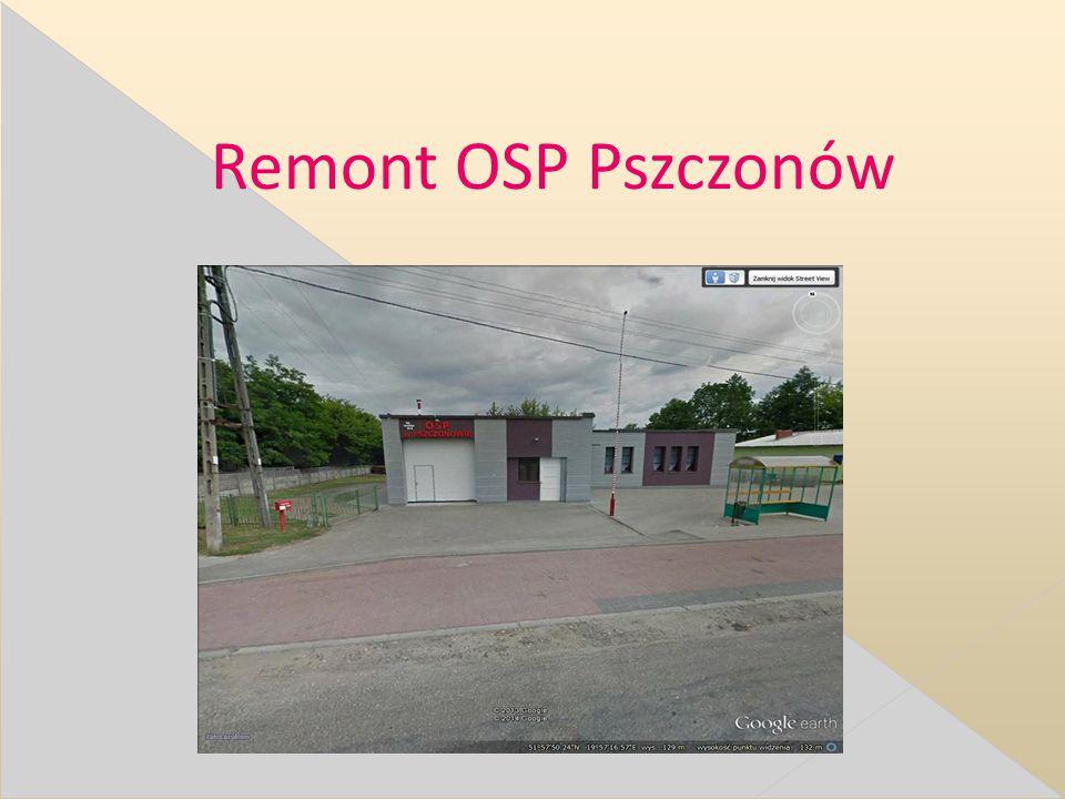 Remont OSP Pszczonów