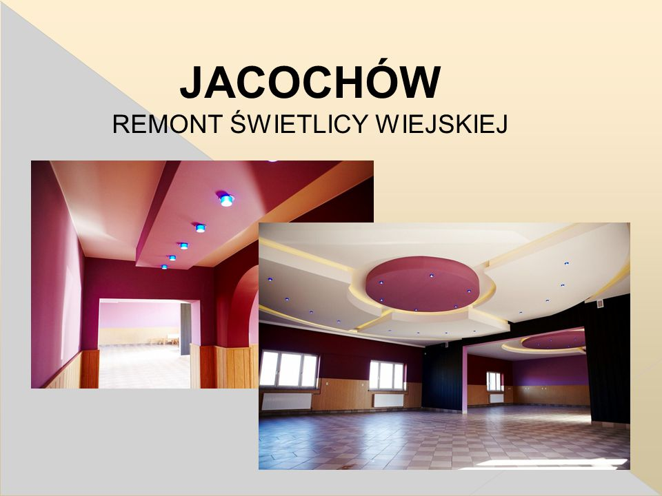 JACOCHÓW REMONT ŚWIETLICY WIEJSKIEJ