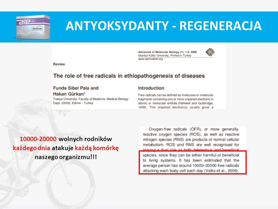 ANTYOKSYDANTY - REGENERACJA 10000-20000 wolnych rodników każdego dnia atakuje każdą komórkę naszego organizmu!!!