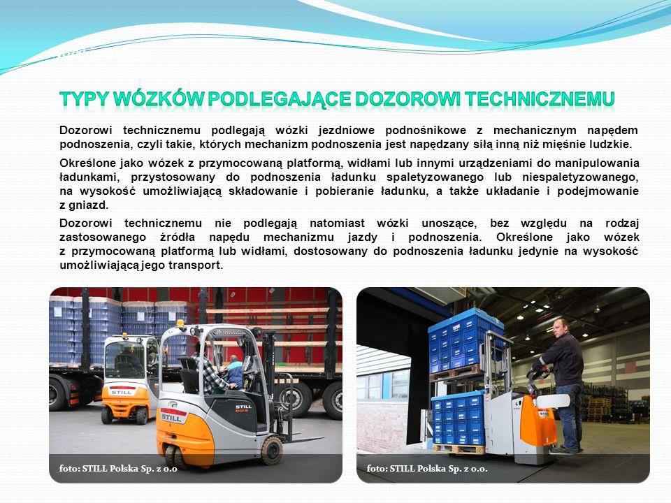 Wózki jezdniowe foto: STILL Polska Sp. z o.ofoto: STILL Polska Sp. z o.o.