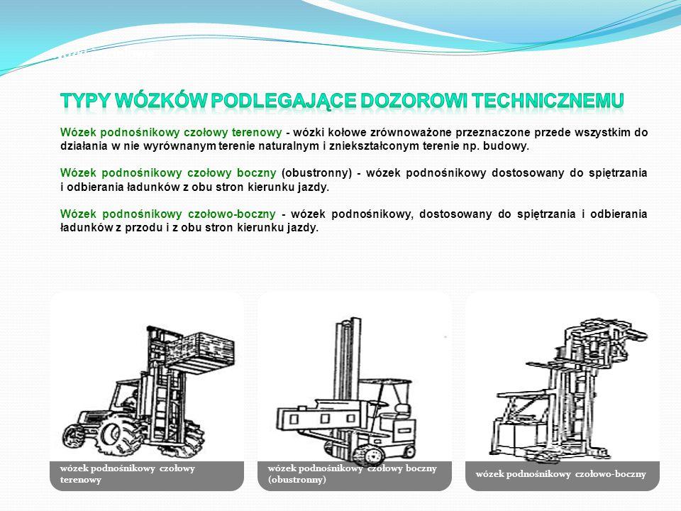 wózek podnośnikowy czołowy terenowy wózek podnośnikowy czołowy boczny (obustronny) wózek podnośnikowy czołowo-boczny Wózki jezdniowe