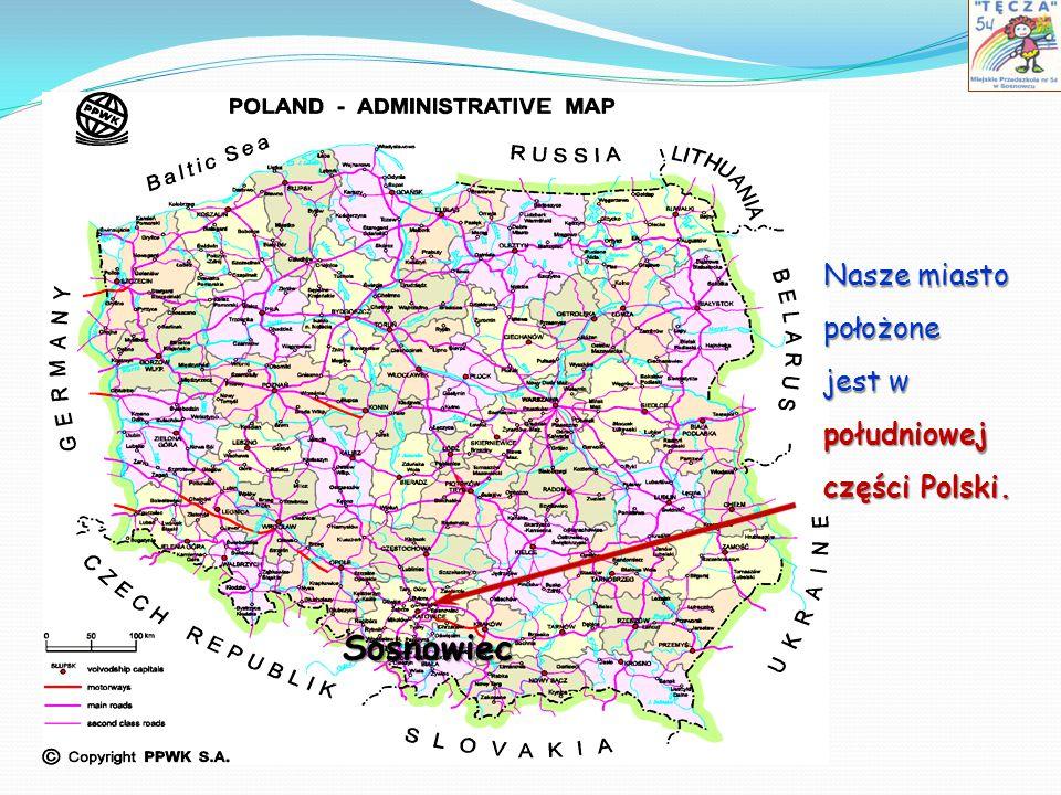 Nasze miasto położone jest w południowej części Polski. Sosnowiec