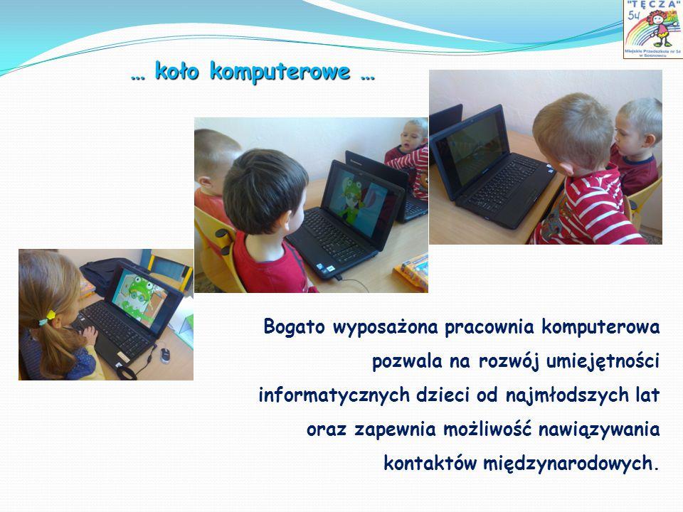 Bogato wyposażona pracownia komputerowa pozwala na rozwój umiejętności informatycznych dzieci od najmłodszych lat oraz zapewnia możliwość nawiązywania
