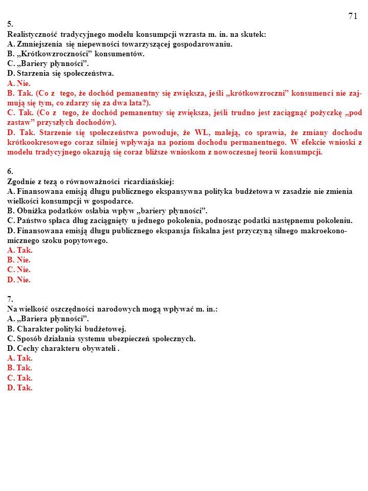 70 Test (Plusami i minusami zaznacz prawdziwe i fałszywe odpowiedzi) 1.