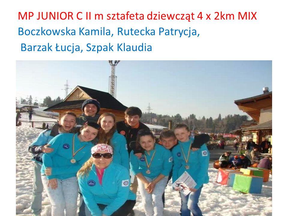 MP JUNIOR C II m sztafeta dziewcząt 4 x 2km MIX Boczkowska Kamila, Rutecka Patrycja, Barzak Łucja, Szpak Klaudia