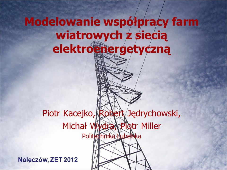 Plan prezentacji Wstęp Elementy układu regulacji Odwzorowanie sieci Sterowanie i komunikacja Estymacja stanu Wnioski 2