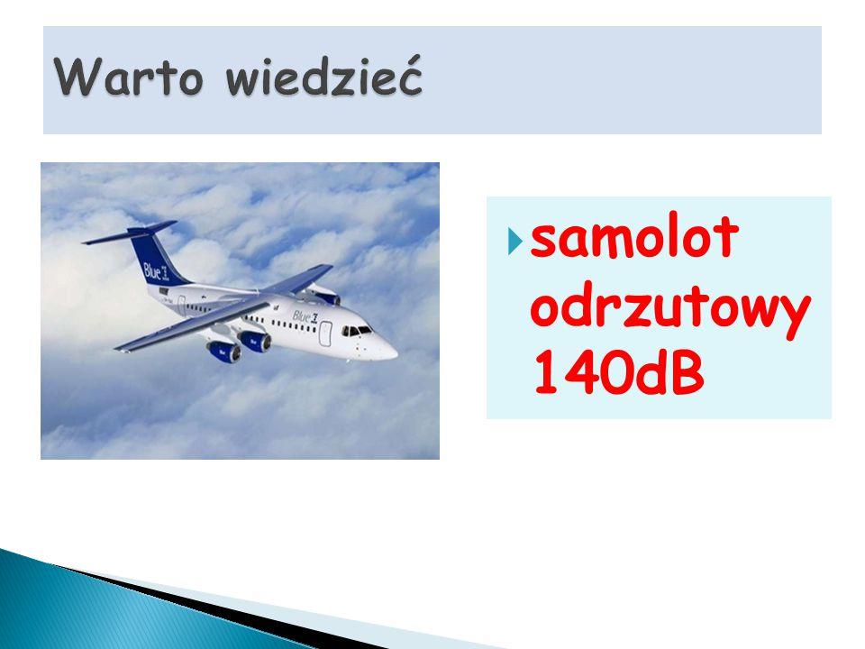  samolot odrzutowy 140dB