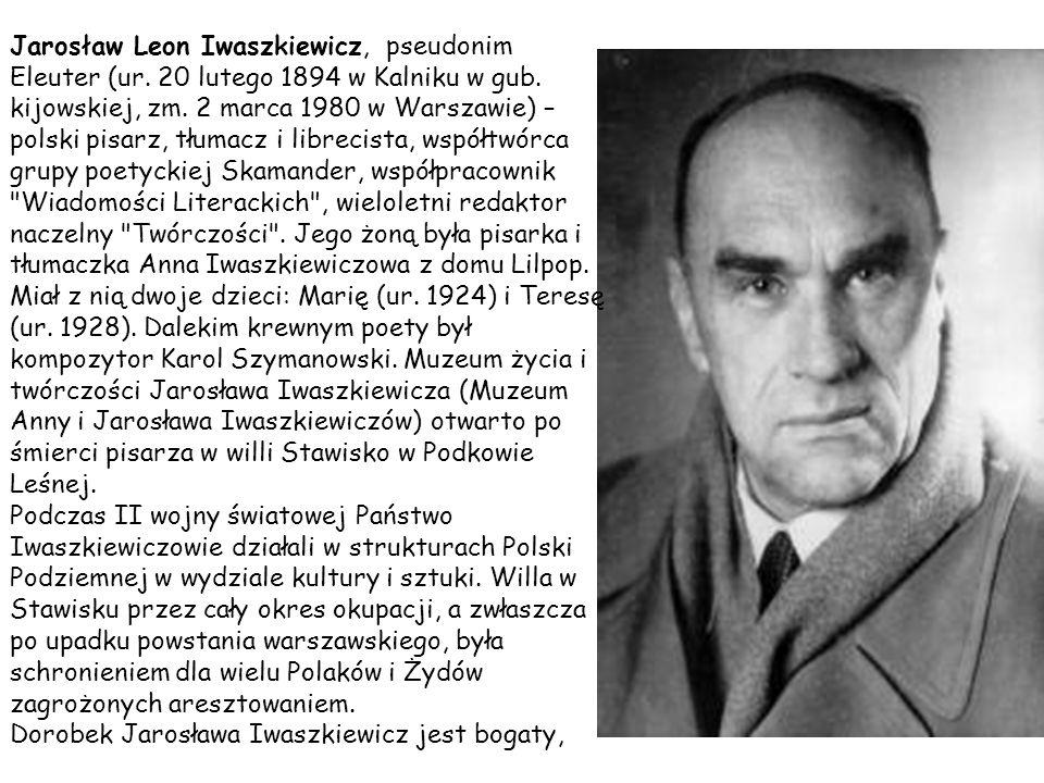 Pisał powieści, nowele i opowiadania: Zenobia Palmura (powieść poetycka) – 1920 Legendy i Demeter – 1921 (zawartość: Legenda o św.