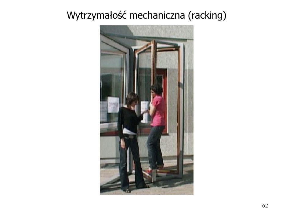 62 Wytrzymałość mechaniczna (racking)