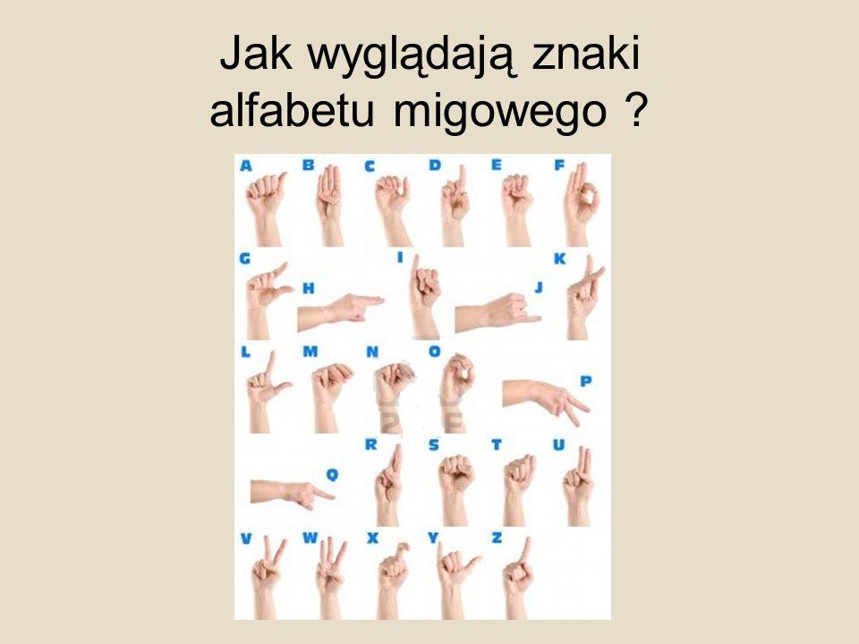 Jak wyglądają znaki alfabetu migowego ?