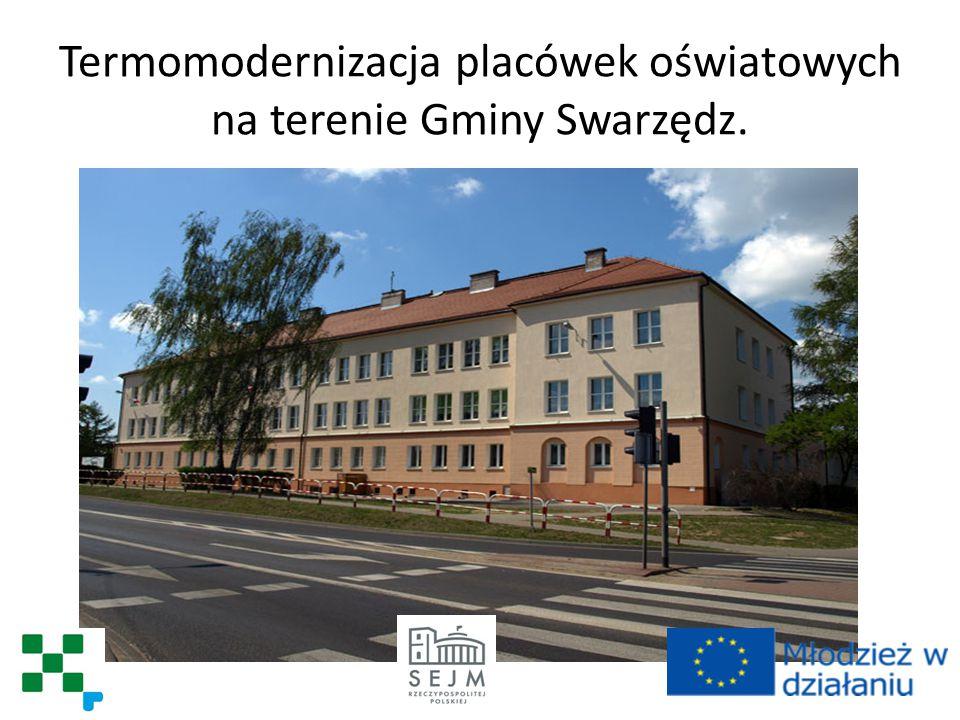 Termomodernizacja placówek oświatowych na terenie Gminy Swarzędz.
