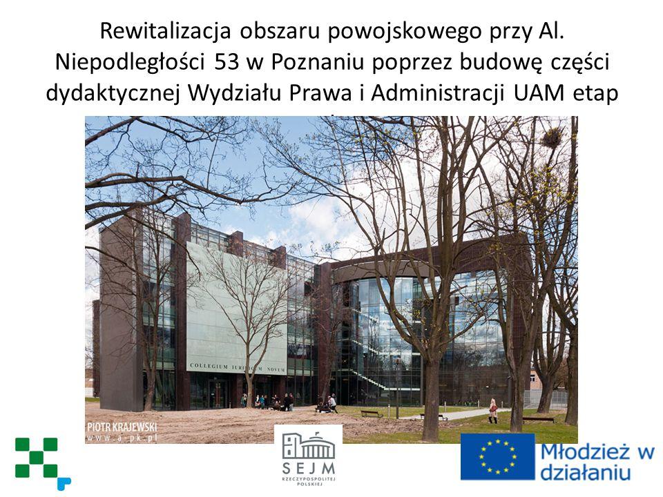 Rozbudowa ogólnodostępnej infrastruktury w Nowym ZOO w Poznaniu a przez to wzrost efektywności wykorzystania istniejących walorów turystycznych.