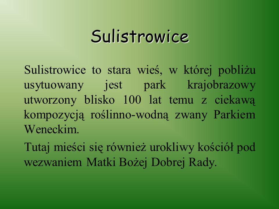 Do innych atrakcji Ślężańskiego Parku Krajobrazowego zaliczyć możemy: Sulistrowice Sulistrowiczki Przełęcz Tąpadła