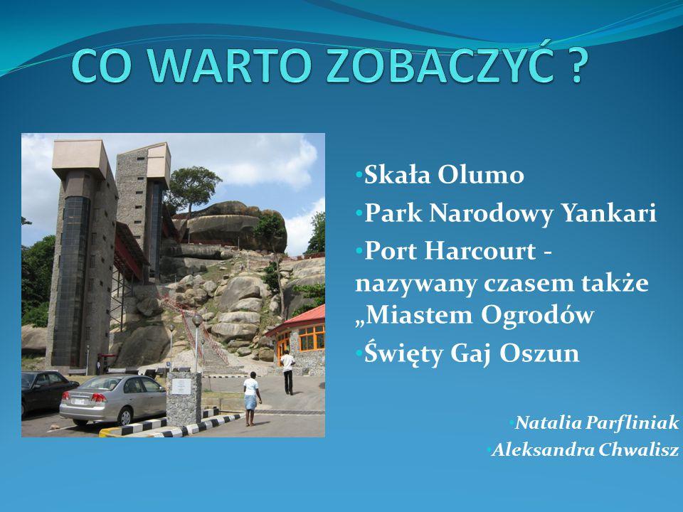 """Skała Olumo Park Narodowy Yankari Port Harcourt - nazywany czasem także """"Miastem Ogrodów Święty Gaj Oszun Natalia Parfliniak Aleksandra Chwalisz"""
