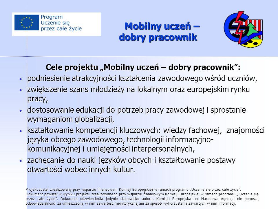 Mobilny uczeń – dobry pracownik Pożegnaniepraktykantów w Schkeuditz.