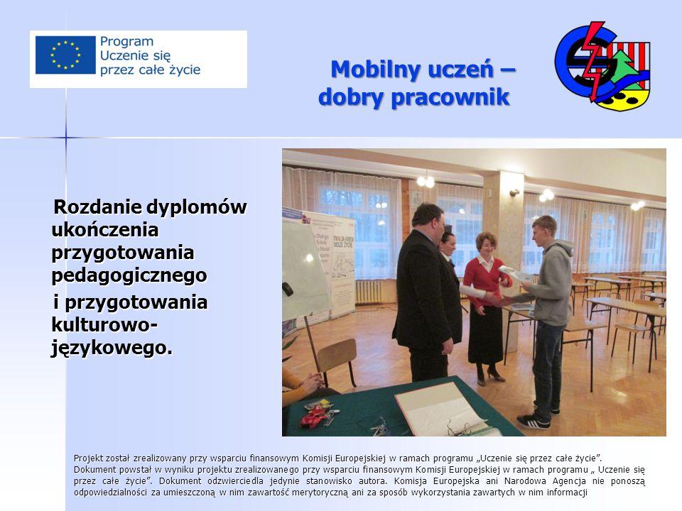 Rozdanie dyplomów ukończenia przygotowania pedagogicznego Rozdanie dyplomów ukończenia przygotowania pedagogicznego i przygotowania kulturowo- językow