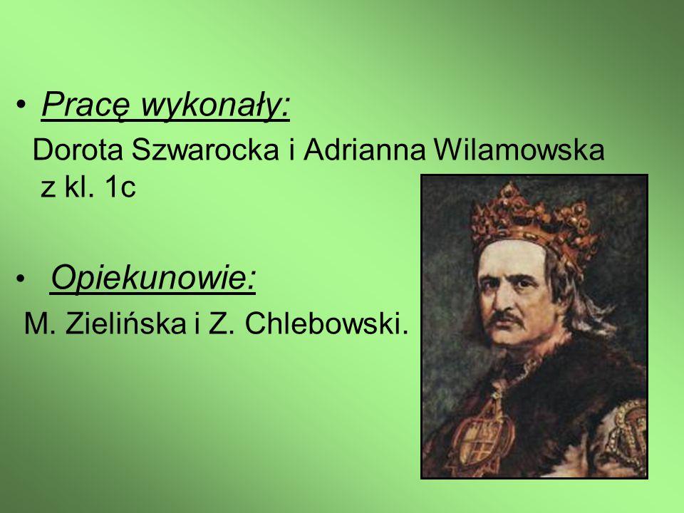 Pracę wykonały: Dorota Szwarocka i Adrianna Wilamowska z kl.