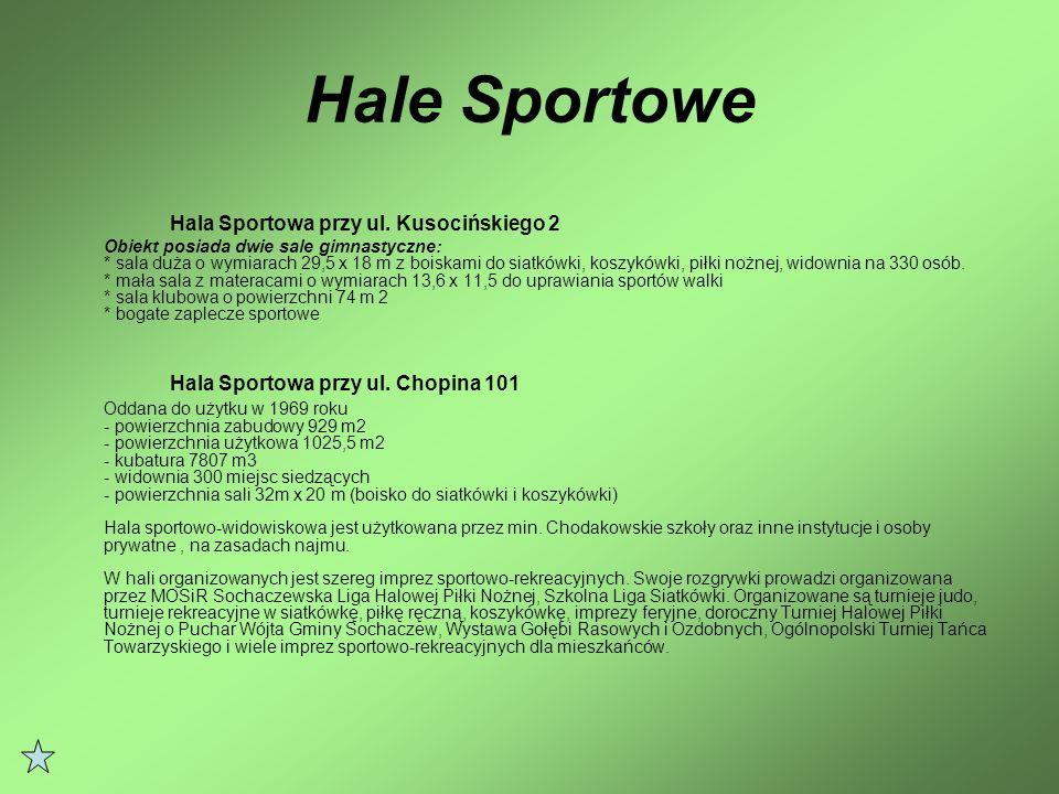 Hala Sportowa przy ul. Kusocińskiego 2 Hala Sportowa przy ul. Chopina 101