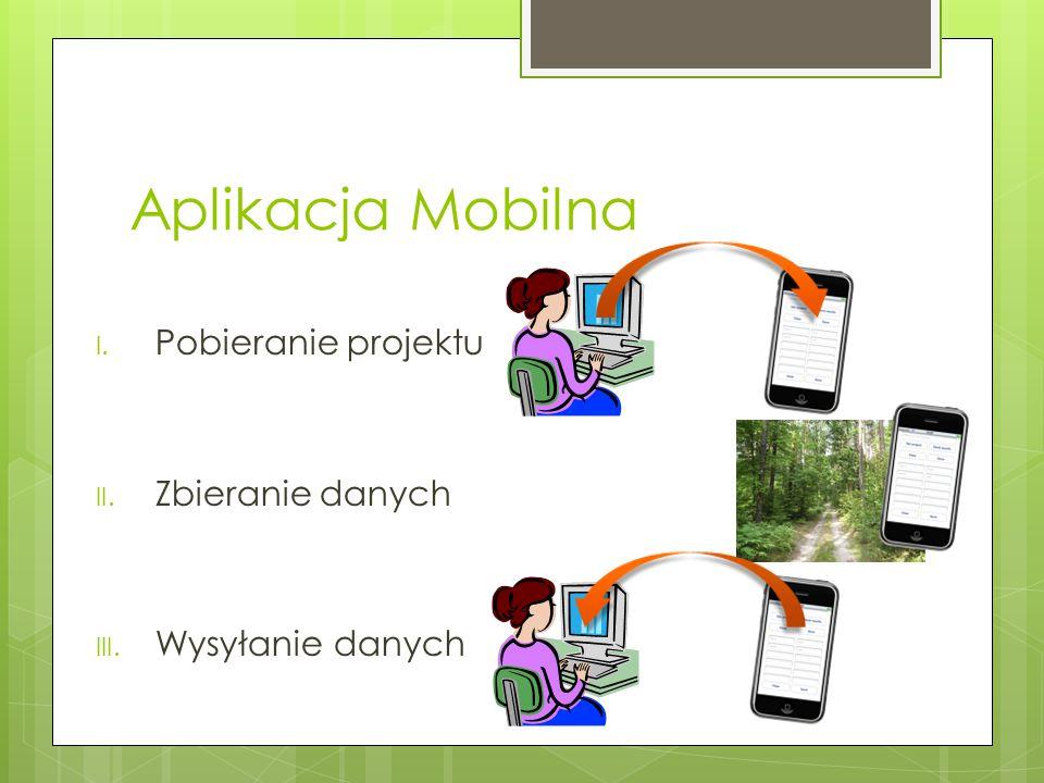 Aplikacja Mobilna I. Pobieranie projektu II. Zbieranie danych III. Wysyłanie danych