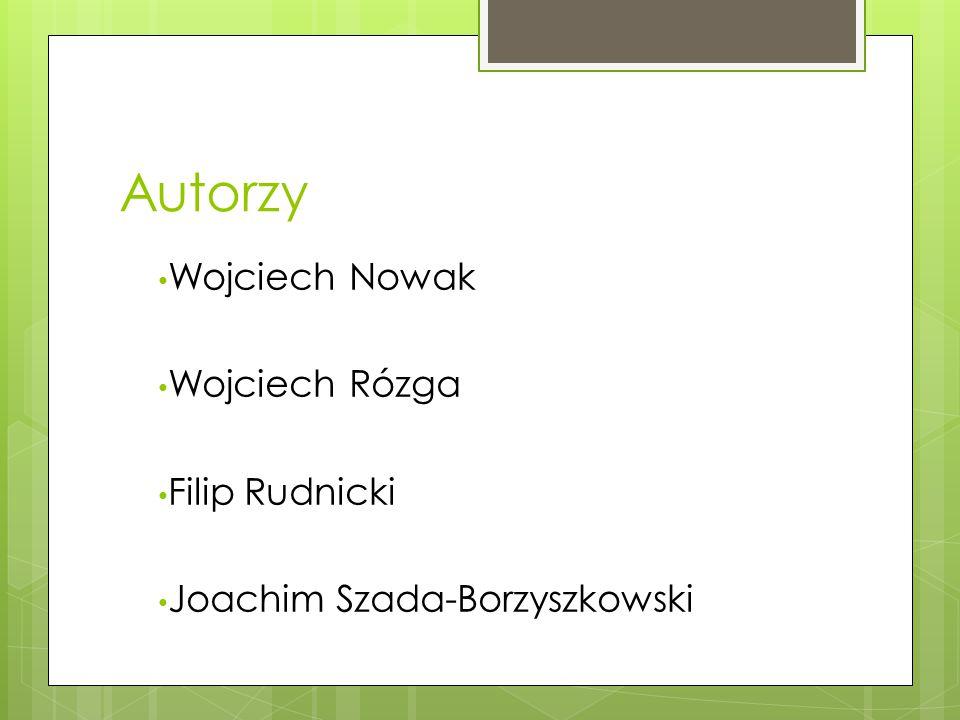 Autorzy Wojciech Nowak Wojciech Rózga Filip Rudnicki Joachim Szada-Borzyszkowski