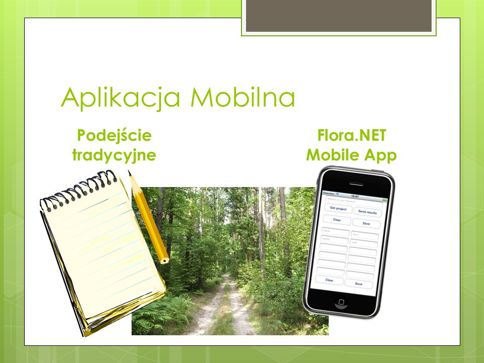 Aplikacja Mobilna Podejście tradycyjne Flora.NET Mobile App