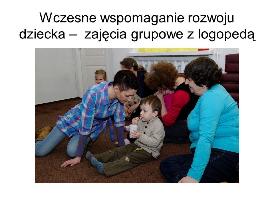 Wczesne wspomaganie rozwoju dziecka – zajęcia grupowe z logopedą