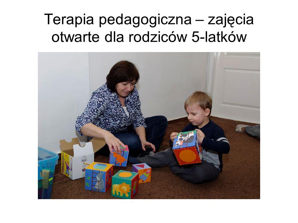 Terapia pedagogiczna – zajęcia otwarte dla rodziców 5-latków