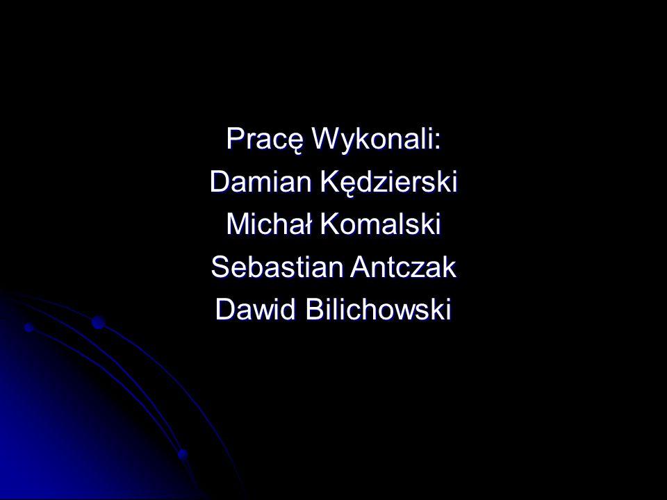 Pracę Wykonali: Damian Kędzierski Michał Komalski Sebastian Antczak Dawid Bilichowski