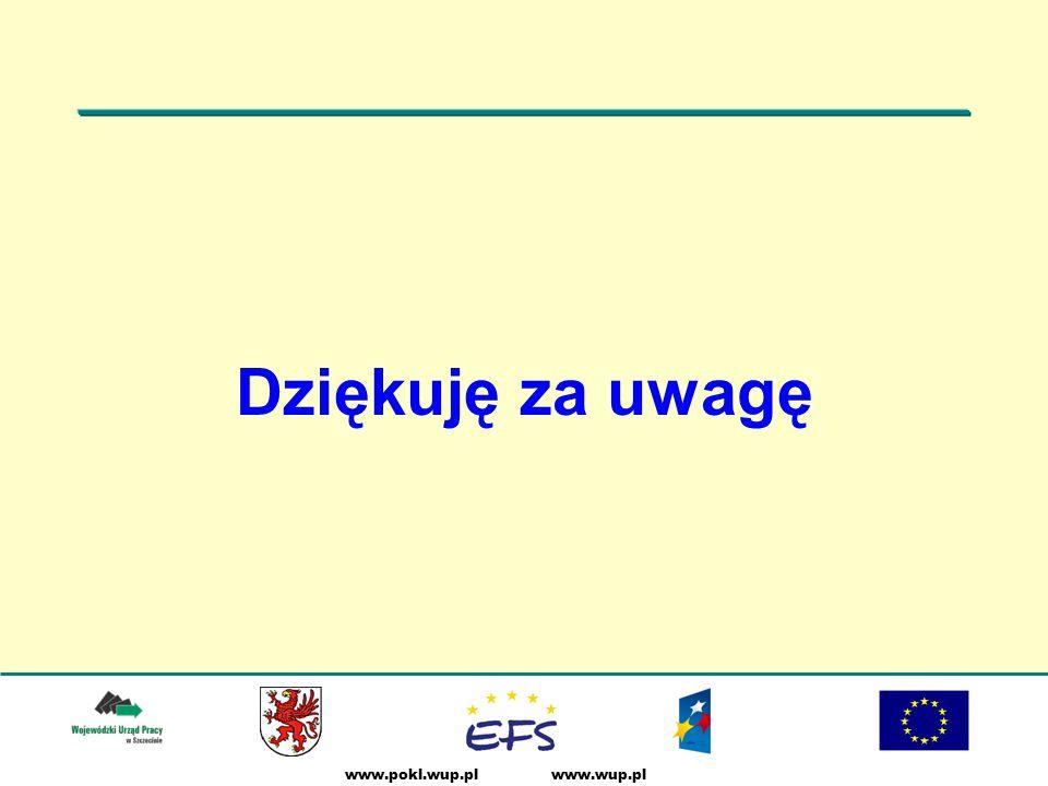 www.pokl.wup.pl Dziękuję za uwagę