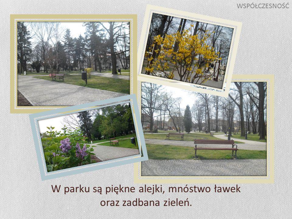 W parku są piękne alejki, mnóstwo ławek oraz zadbana zieleń. WSPÓŁCZESNOŚĆ