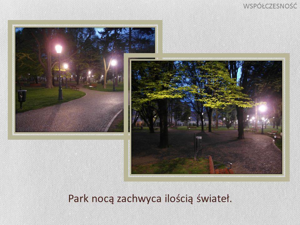 Park nocą zachwyca ilością świateł. WSPÓŁCZESNOŚĆ