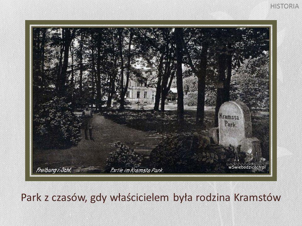 Park z czasów, gdy właścicielem była rodzina Kramstów HISTORIA