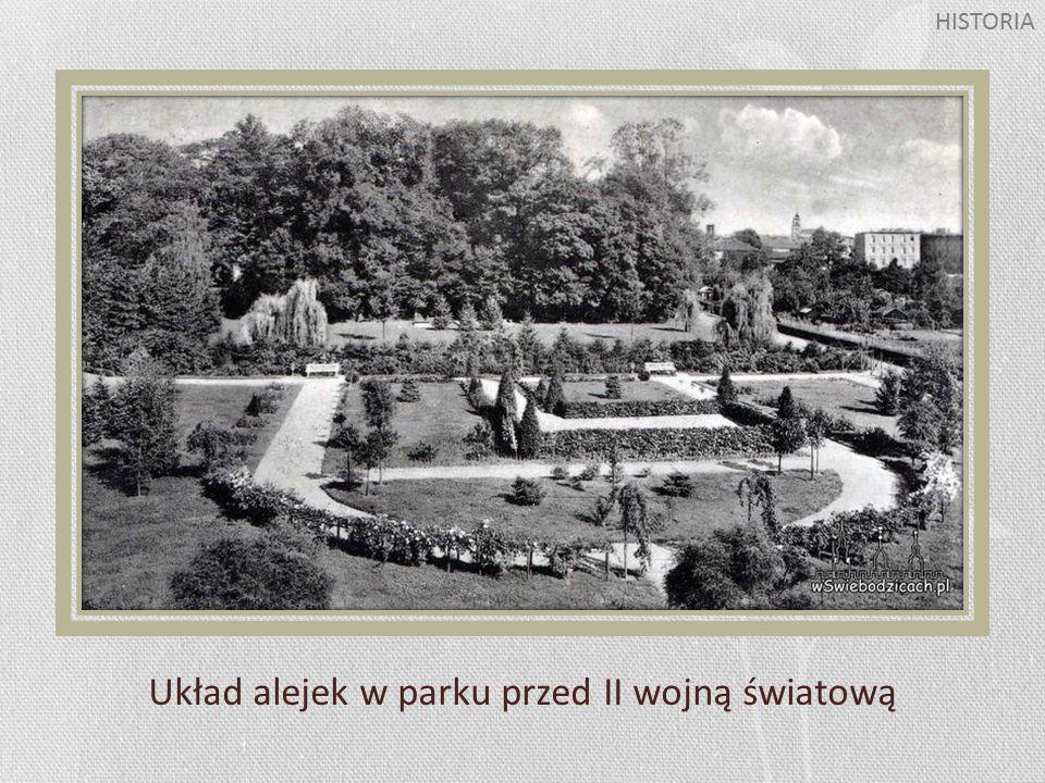 Układ alejek w parku przed II wojną światową HISTORIA