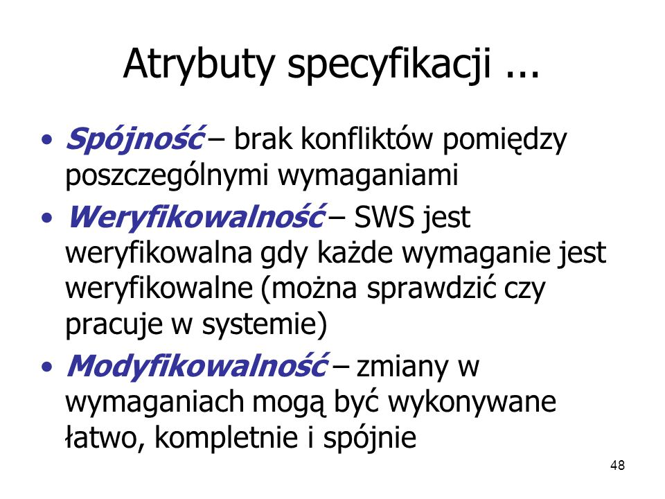 48 Atrybuty specyfikacji...