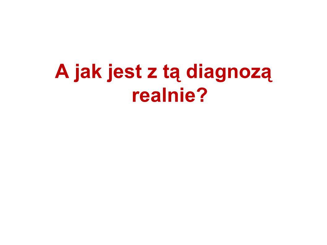 A jak jest z tą diagnozą realnie?