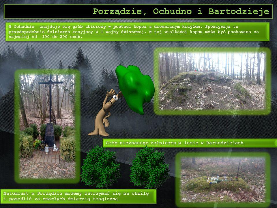 Rząśnik Spacerując po lesie w Rząśniku, możemy zauważyć liczne okopy po II wojnie światowej.
