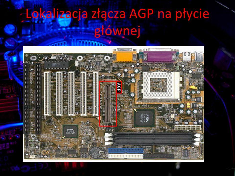 Lokalizacja złącza AGP na płycie głównej