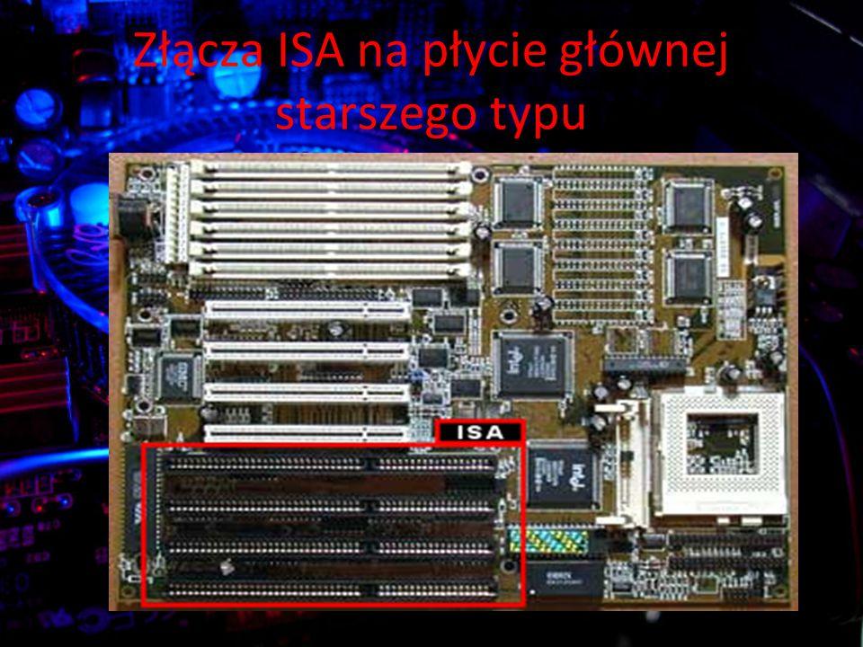 Złącza ISA na płycie głównej starszego typu